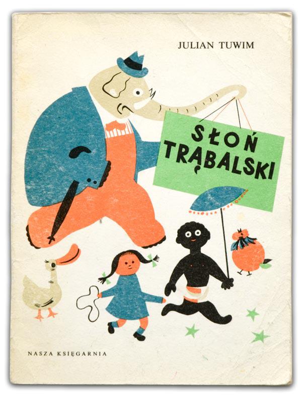 Обложка сборника стихотворений Юлиана Тувима, изд-во Nasza Księgarnia