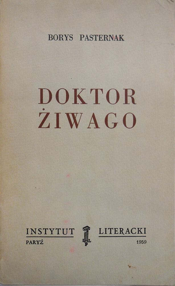 Обложка польского перевода романа Б. Пастернака «Доктор Живаго», вышедшего в издательстве «Литературный институт», 1959