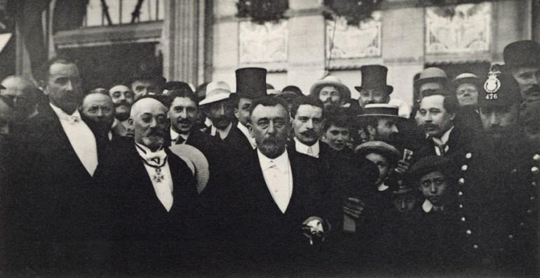 Ludwik Zamenhof na Światowym Kongresie Esperanto, 1911, Antwerpia, reprodukcja z archiwum Forum