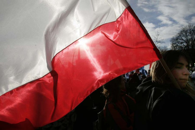 Poland's flag, photo: Łukasz Głowala / Forum