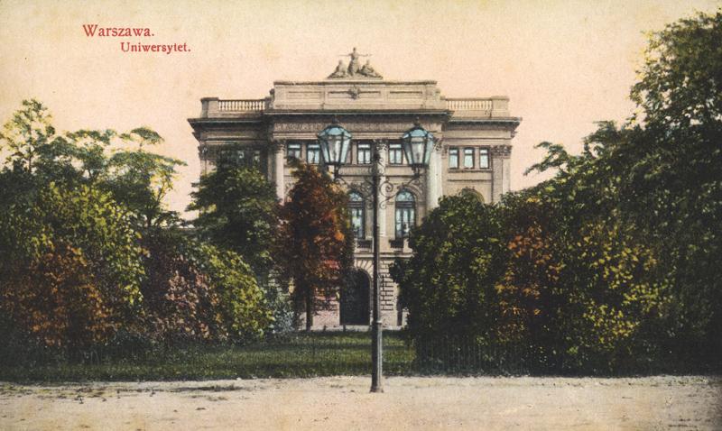 Варшавский униерситет, 1910, фото POLONA