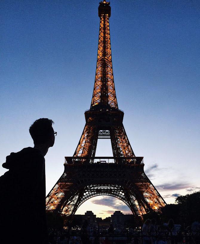 Антон Левчук в Париже. Фото: Евгений Очеповский