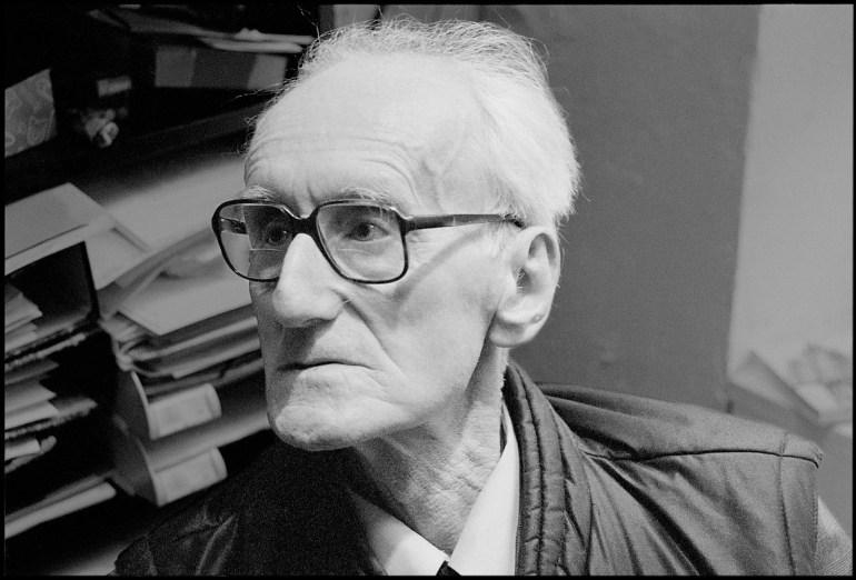 Юзеф Чапский на вернисаже своей выставки, Париж, апрель 1985, фото: Мацей Плевинский / Forum