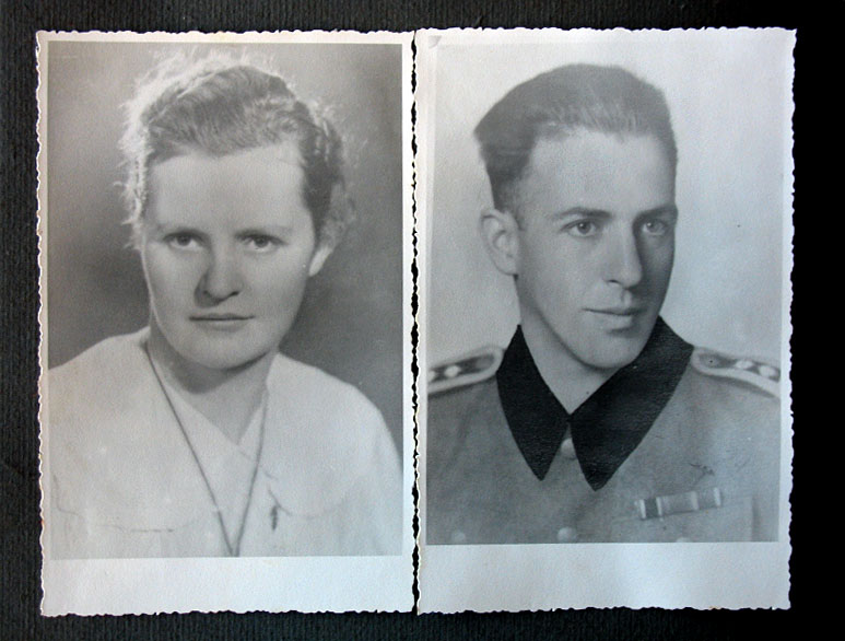 Wilhelmina and Lothar von Seltmann, the grandmother and grandfather of Uwe. After the war, the SS emblem on Lothar's collar was colored over, photo: Seltmann family archive