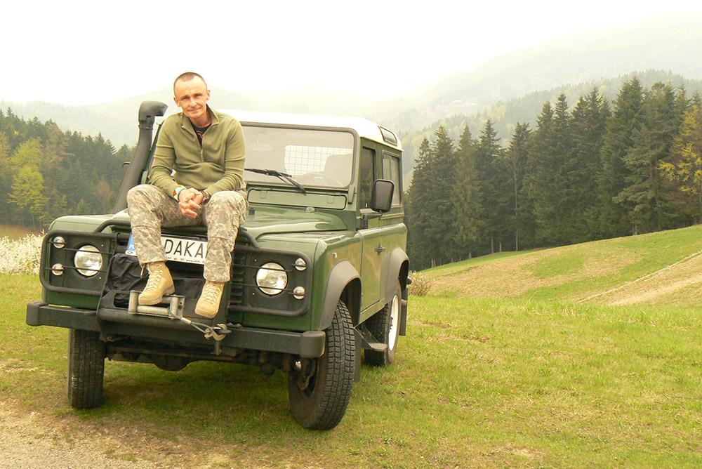 Piotr Pogon in the Carpathian Mountains, photo: P. Pogon's personal collection