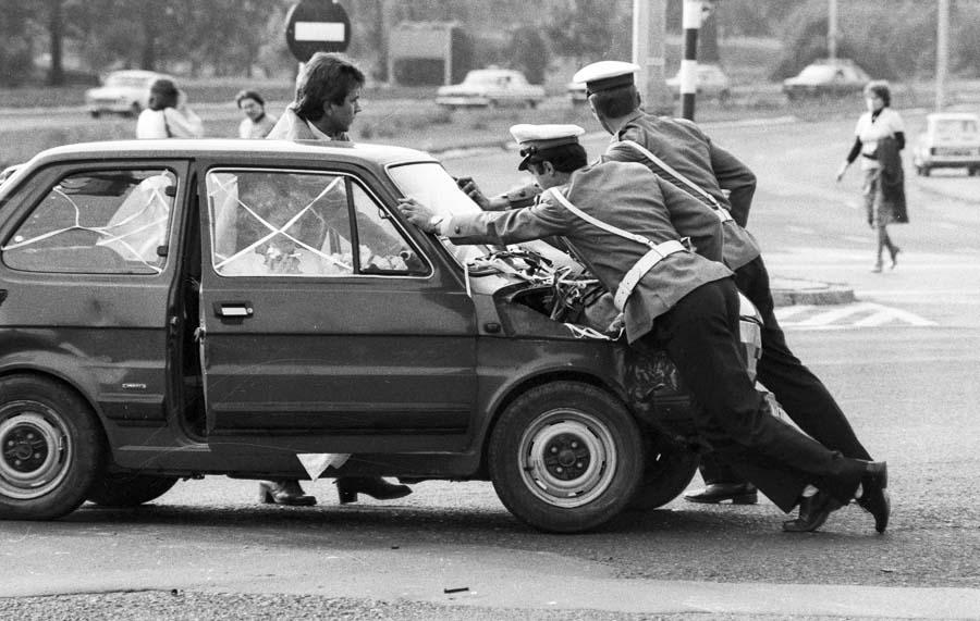 Варшава, угол улицы Гагарина, 1980 год. Фото: Ежи Михальский / Forum