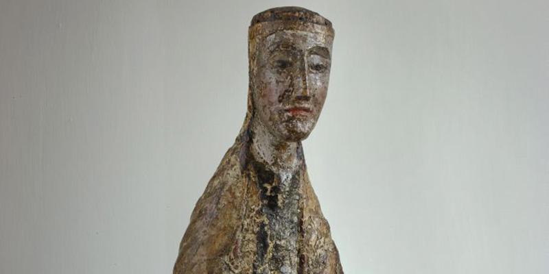 """""""Madonna z Ołoboku"""", ok. 2. poł. XII w. – pocz. XIII w., drewno lipowe ze śladami polichromii, wys. 39,5 cm, wł. Muzeum Narodowe w Warszawie, fot. MNW"""