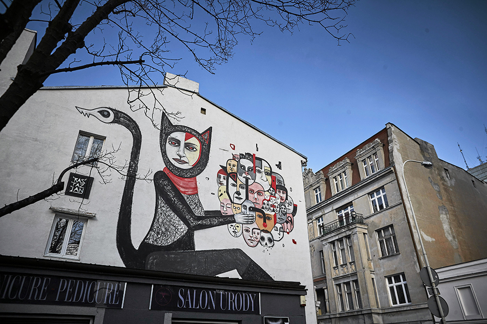 Cat woman mural, photo: Tomasz Stańczak / AG