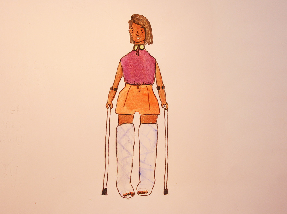"""Połamania nóg"". Иллюстрация: Леон Радзивон"