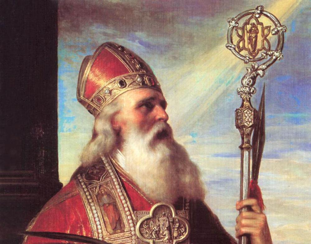 Saint Wojciech, patron saint of Poland. Replica of the painting: Dagmara Smolna