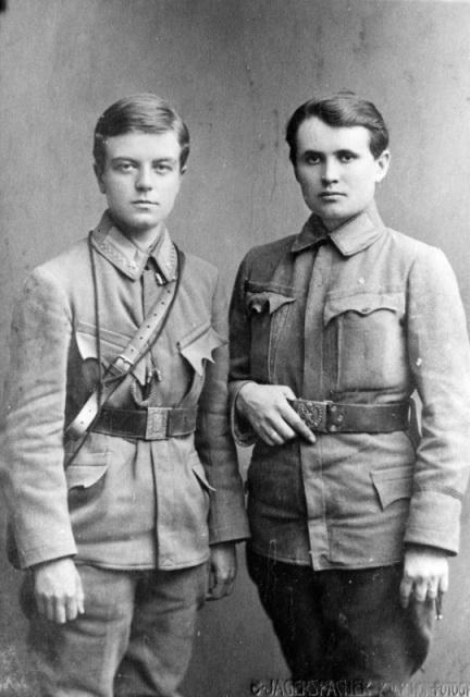 Софія Ґалечко і Гандзя Дмитерко. Відень 1916