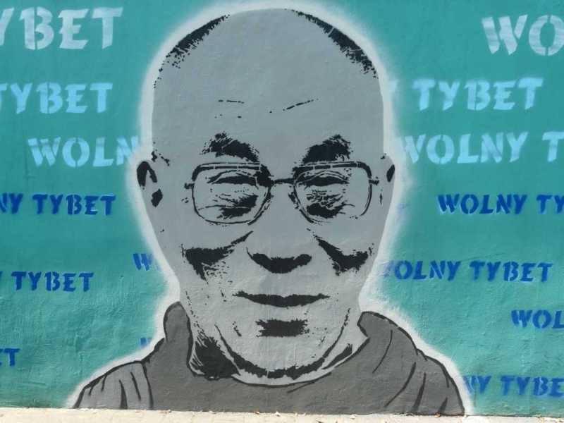 Mural z Ronda Tybetu, fot. Galeria Tybetańska
