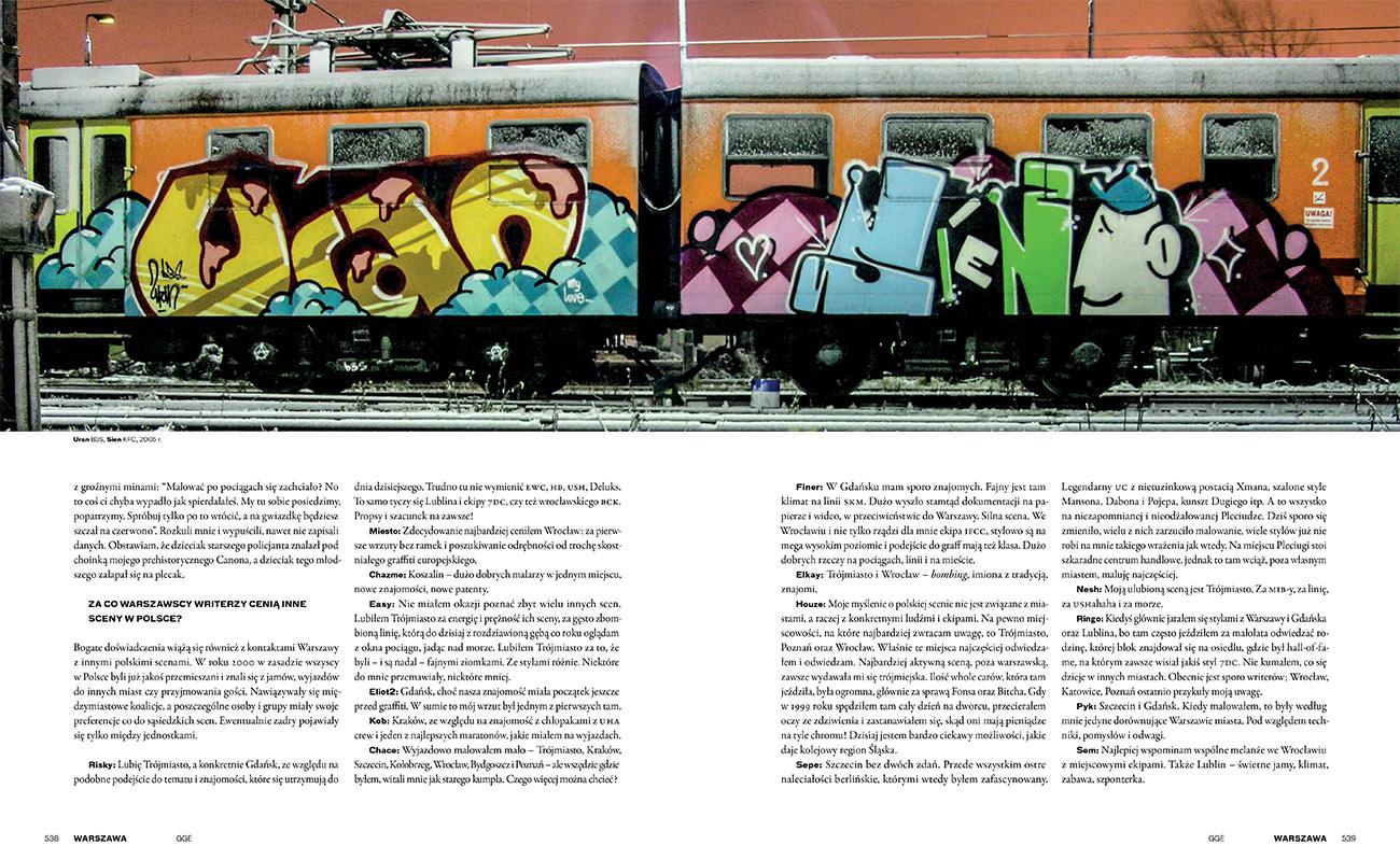 """Rozkładówka albumu """"Graffiti Goes East 1990-2012"""", fot. materiały prasowe"""