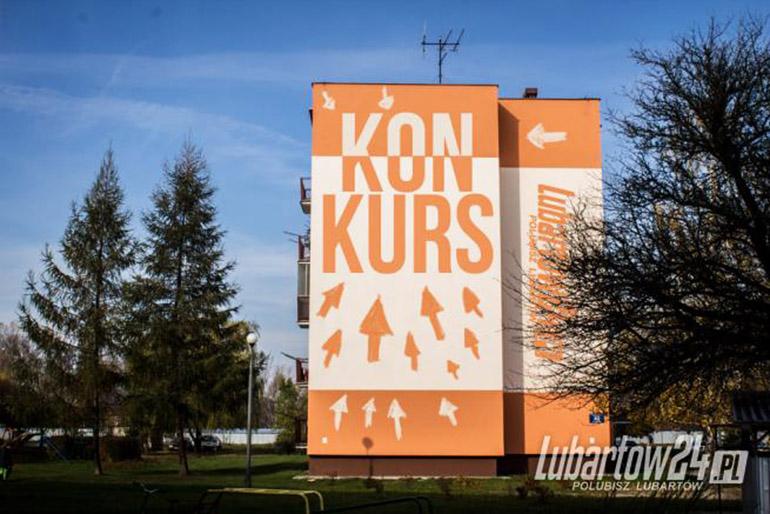 Blok w Lubartowie, na którego ścianie ma powstać mural, fot. www.lubartow24.pl