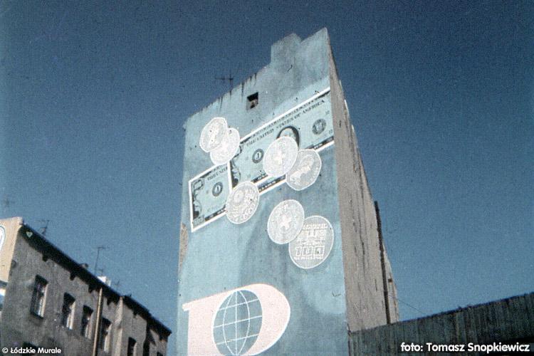 Łódzki mural PEKAO, fot. Tomasz Snopkiewicz / źródło: www.murale.mnc.pl