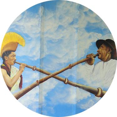 We Trumpet the Same Thing by Maciej Szymonowicz Kamerski. Photo: Tibetan Gallery