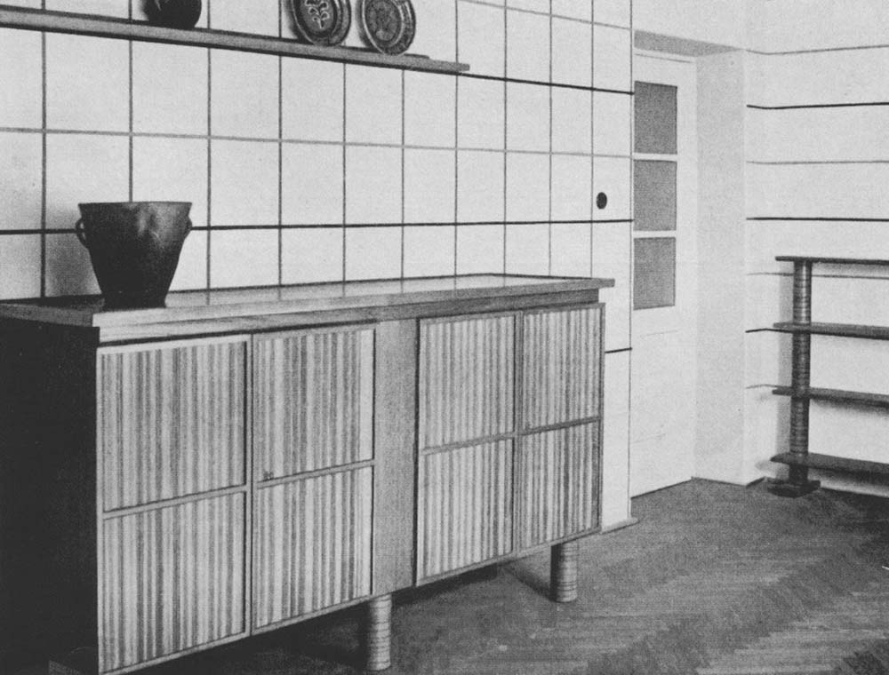 Barbara i Stanisław Brukalscy, furniture prototypes, by Barbara Brukalska, for the model interior at the Residential Construction Exhibition of the National Economy Bank in Warsaw, 1935