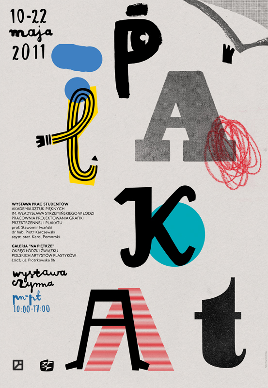 Aleksandra Niepsuj, poster for Th Exhibition of Posters from Fine Art Academy in Łódź