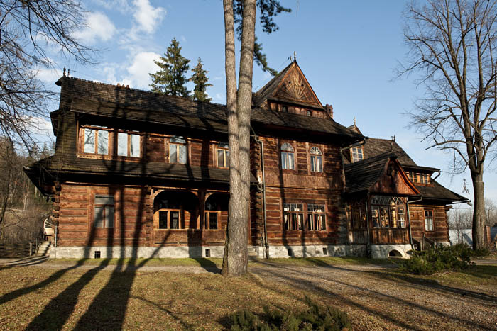 Stanisław Witkiewicz, The Koliba Villa on Kościeliska Street 18 in Zakopane, built for Zygmunt Gnatowski, 1892-1894; extensions according to a design by Tadeusz Prauss, 1901. Currently the Stanisław Witkiewicz Zakopane Museum, a branch of the Tatra Mountains Museum in Zakopane., Photo: Michał Korta