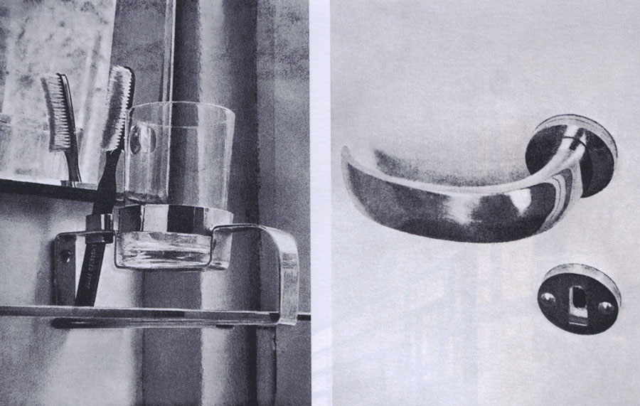 """Helena Syrkus, Szymon Syrkus, wnętrze domu w Skolimowie, 1932-1933, fot. reprodukcja z magazynu """"Wnętrze"""", 1933-1934"""