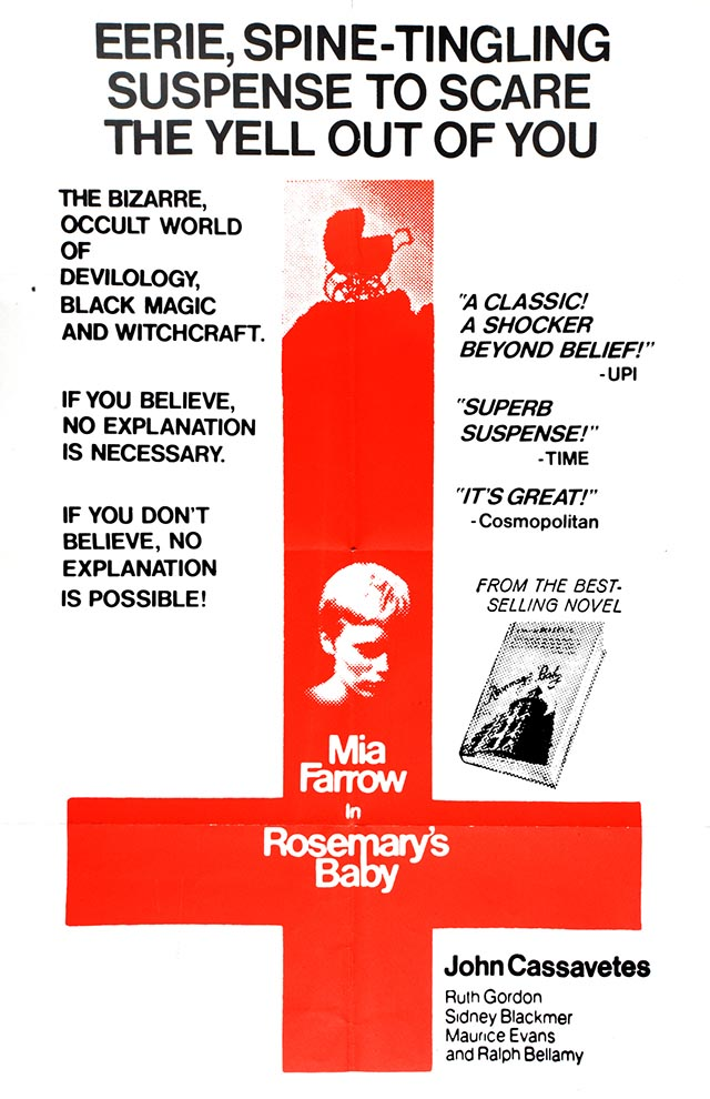 English poster for Rosemary's Baby, photo: The Łódź Film Museum