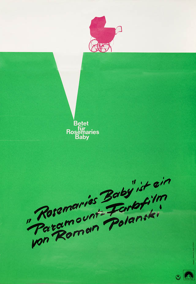 German poster for Rosemary's Baby, photo: The Łódź Film Museum
