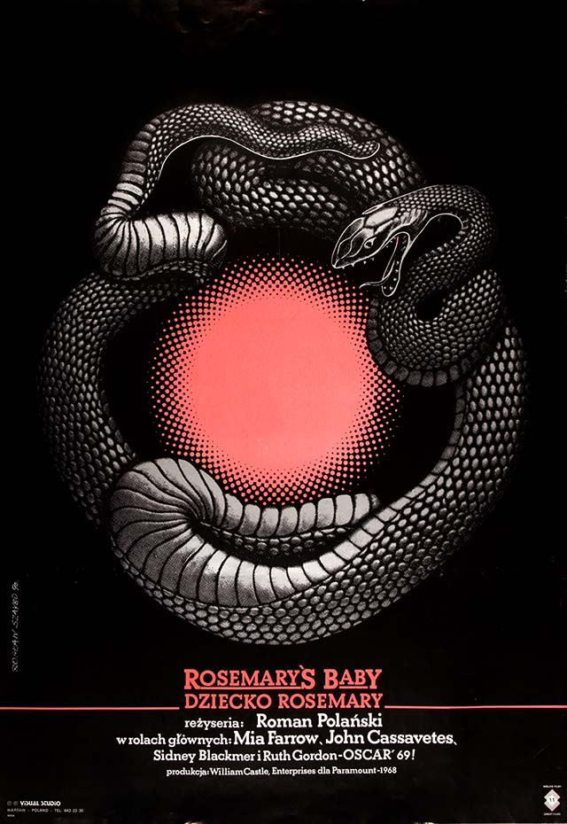 Polish poster for Rosemary's Baby, photo: The Łódź Film Museum