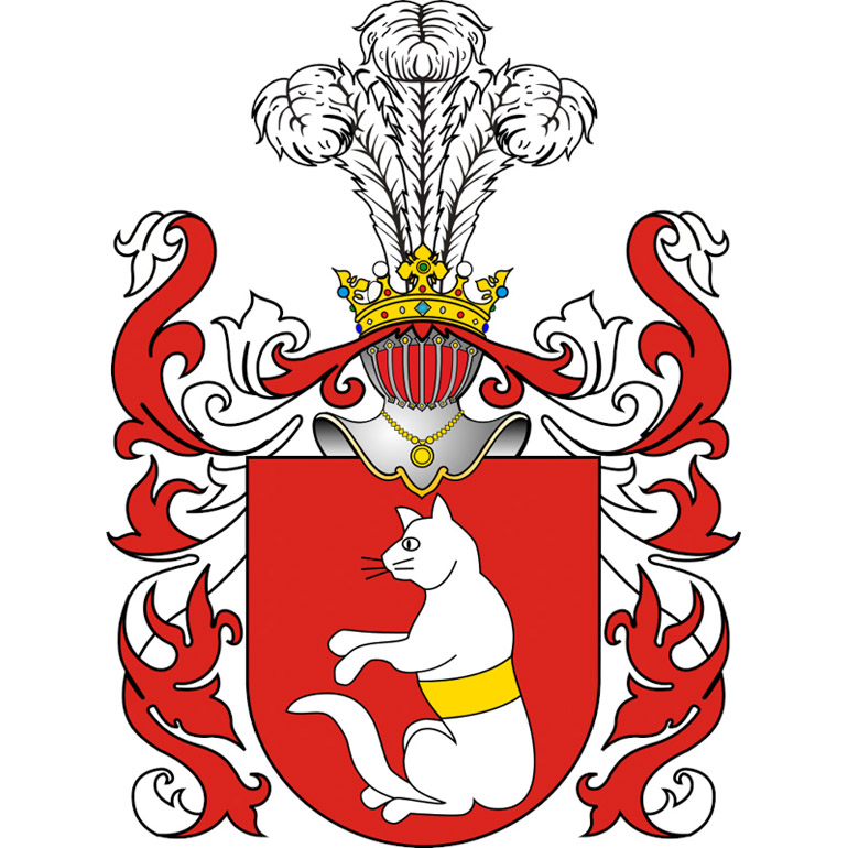 The Kot Morski coat of arms as depicted by Tadeusz Gajl, photo: wikimedia.org