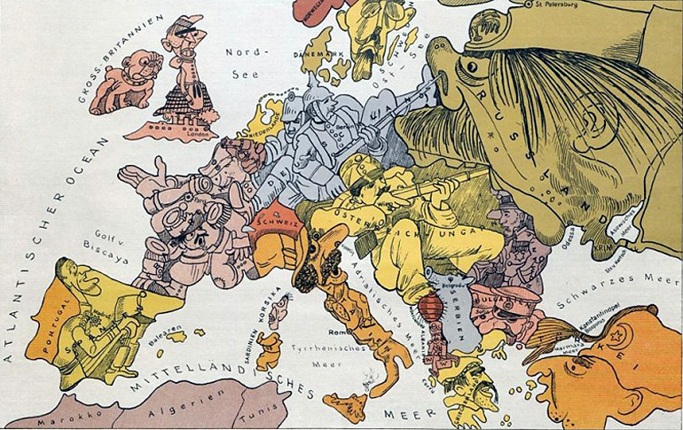 Cartoon Map Of Germany.The Map Is Not The Territory How Satirists Charted Poland When It