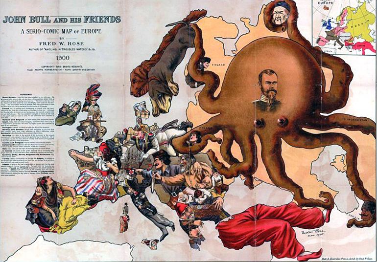 Rose octopus map 1900