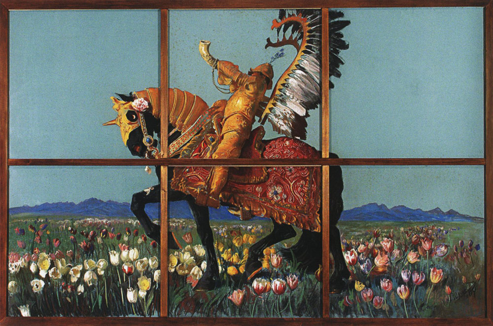 Knight Among Flowers,Leon Wyczółkowski, 1904, photo: Wikipedia