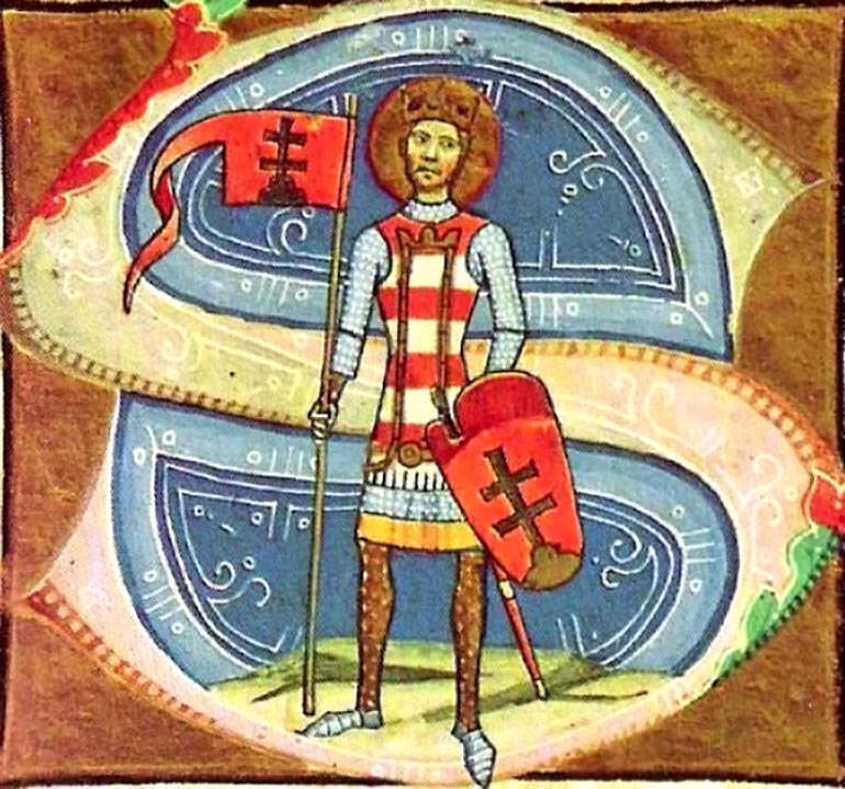 Miniature of St. Istvan, first king of Hungary
