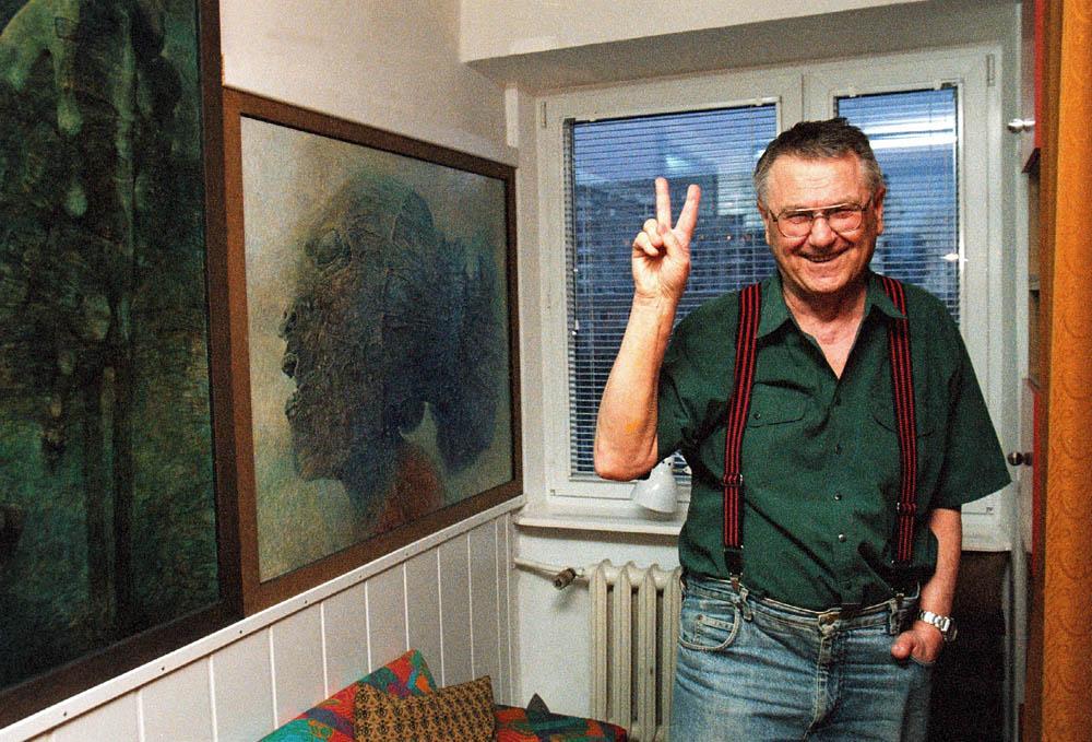Zdzisław Beksiński, fot. Zdzisław Beksiński, 2003, fot. T. Wierzejewski/East News