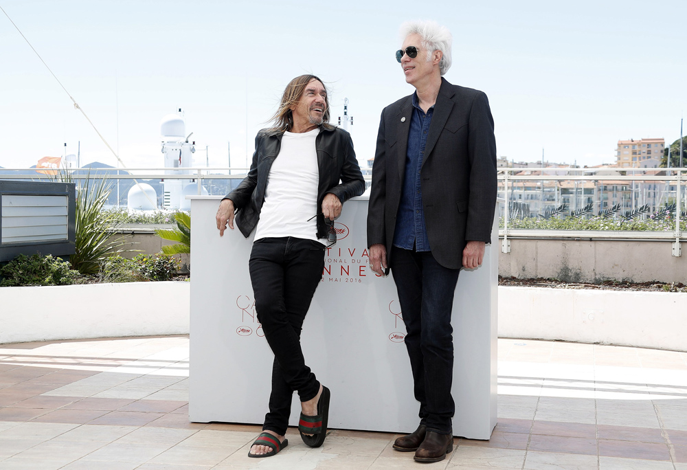 Director Jim Jarmusch (R) and US singer Iggy Pop (L) pose during the photocall for 'Gimme Danger' at the 69th annual Cannes Film Festival, in Cannes, France, 19 May 2016, photo: Sebastien Nogier / PAP / EPA