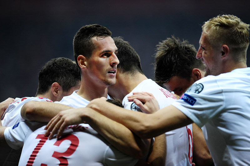 Arkadiusz Milik during the Euro 2016 elimination match between Poland and Germany,  Warsaw 11th November 2014, photo: Piotr Matusewicz / East News