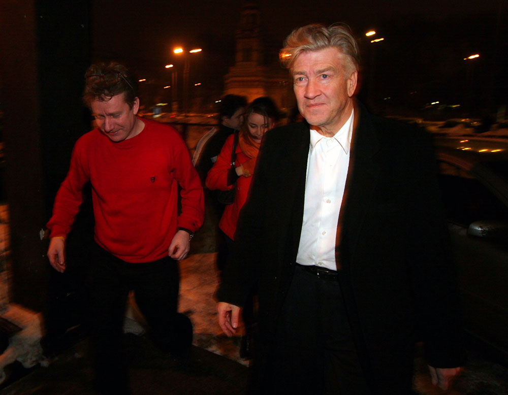 David Lynch and Marek Żydowicz in Łódź (2006), photo: G. Michałowski/PAP