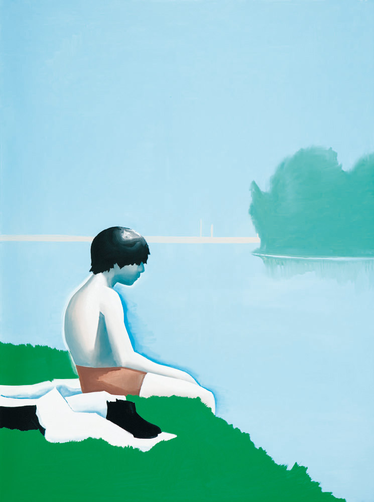 Wilhelm Sasnal, Bathers at Asnières, 2010, oil on canvas,160 x 120 cm, courtesy of Sadie Coles HQ, London, Whitechapel Gallery