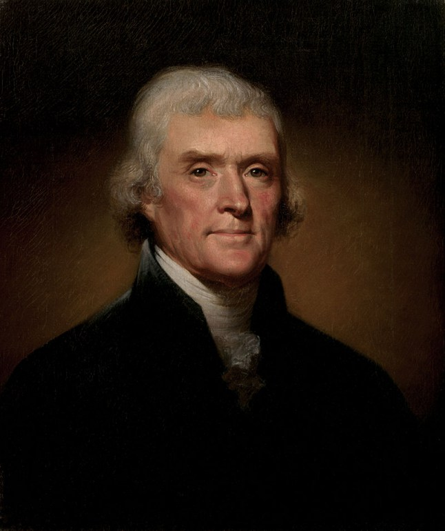 Rembrandt Peale, Official Presidential portrait of Thomas Jefferson, 1800, Image: Wikimedia Commons