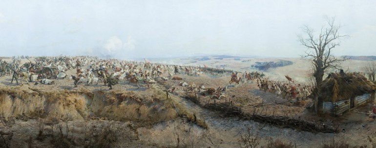 The Battle of Racławice inspired the monumental painting of Panorama Racalwicka - only a fragment is shown her. Today Panorama is on display in Wrocław. See more