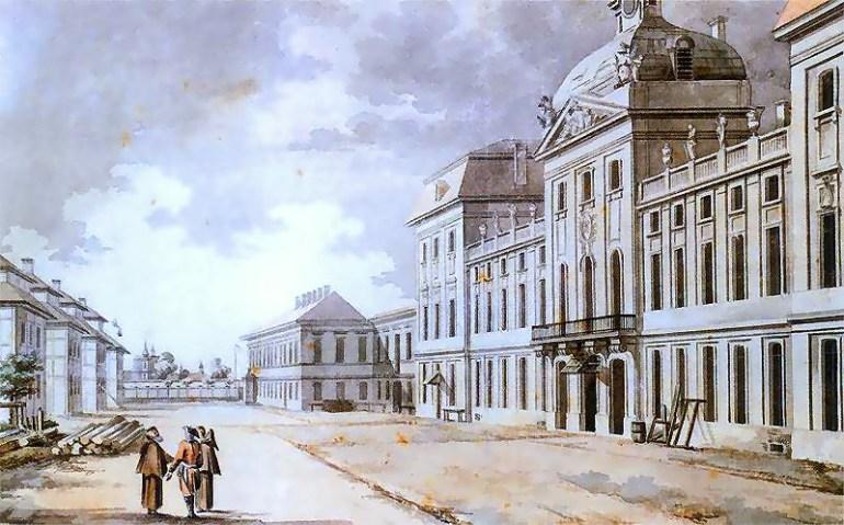 Corps of Cadets in Warsaw where Kościuszko studied 1766-1768, by Zygmunt Vogel