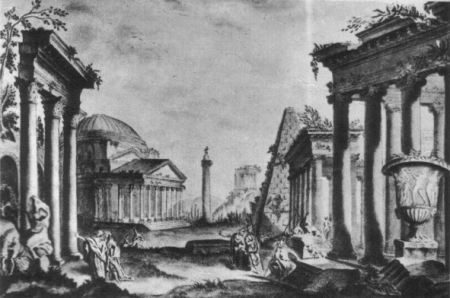 Вымышленный римский пейзаж, нарисованный Тадеушем Костюшко во время его пребывания в Париже, источник: Национальный музей в Кракове / Wirtualne Muzea Małopolski  CC-BY 3.0 PL