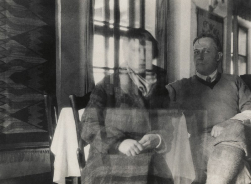 "Stanisław Ignacy Witkiewicz, self portrait with Czesława Okińska, 1930s, photo from the exhibition ""Witkacy and The Others"" at The Wilanów Palce Museum, in 2011."