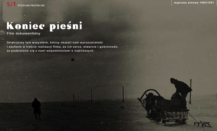 The Koniec Pieśni (End of Song) project website