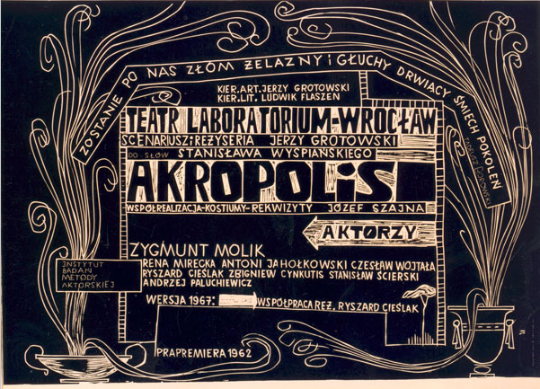 Poster for Akropolis, version V, courtesy of the Grotowski Institute