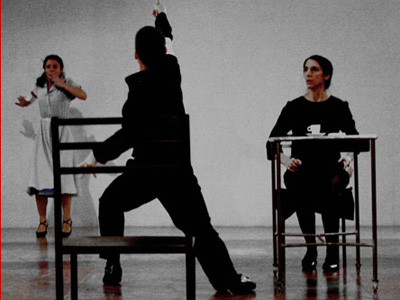 A scene from the Studium Teatrlane performance