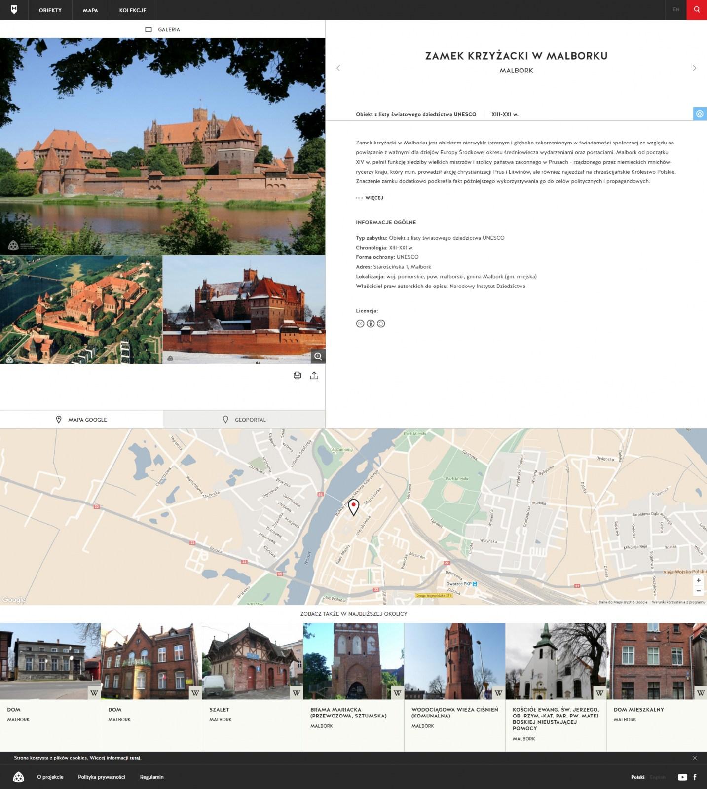 Widok karty ze strony zabytek.pl, fot. materiały nadesłane