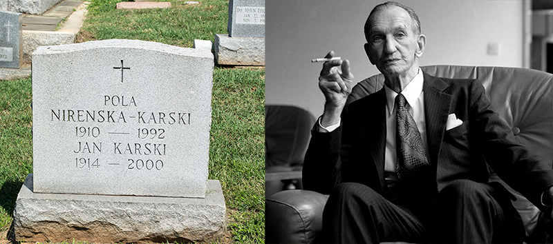 Mount Olivet Cemetery in Washington D.C, the grave of Jan Karski; Jan Karski, photo: Wikimedia.org / Krzysztof Wojciewski / Forum
