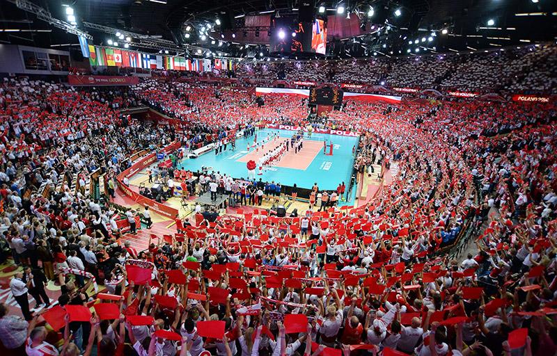 """Hala sportowo-widowiskowa """"Spodek"""", Mistrzostwa Świata w Piłce Ręcznej, 2016, fot.  Mateusz Jagielski  / East News"""