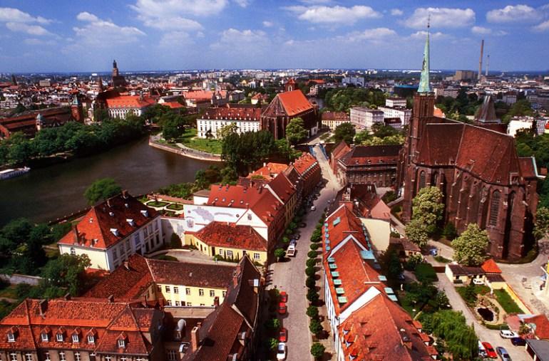 Panorama Wrocławia z wieży widokowej katedry św.  Jana Chrzciciela, fot. Marek Skorupski / Forum