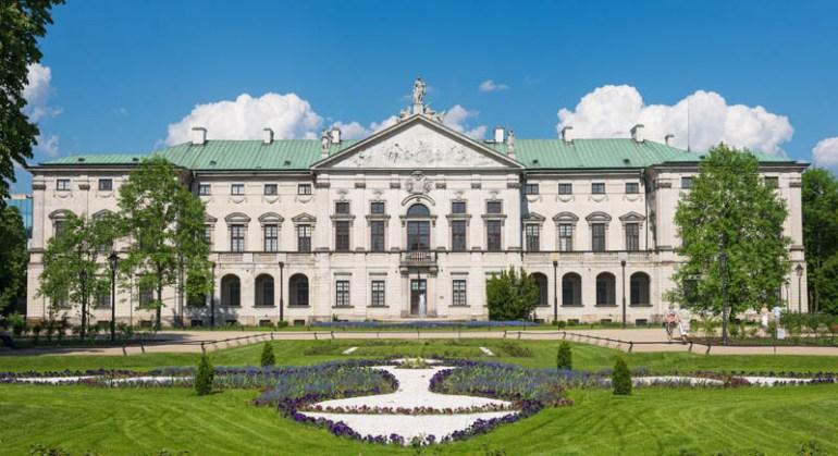 Pałac Krasińskich w Warszawie, widok od strony ogrodów, fot. Marcin Morawski / East News